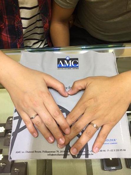 AMC鑽石婚戒鑽戒0512黃香菇